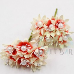 Pearl chrysanthemum  / 6pcs /RED