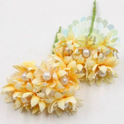 Pearl chrysanthemum  / 6pcs /PALE ORANGE
