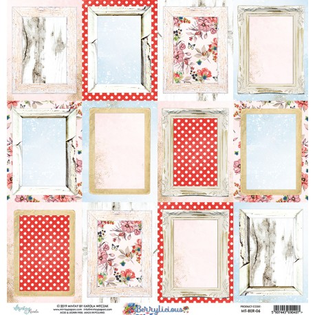 Scrapbooking Paper- 12x12 Sheet - BERRYLICIOUS 06