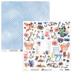 Scrapbooking Paper- 12x12 Sheet -BERRYLICIOUS 09