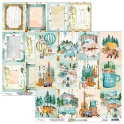 Scrapbooking Paper- 12x12 Sheet - WILDERNESS 06