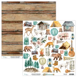 Scrapbooking Paper- 12x12 Sheet - WILDERNESS 09