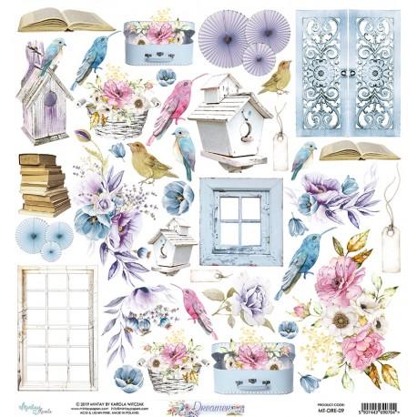 Scrapbooking Paper- 12x12 Sheet -DREAMER 09
