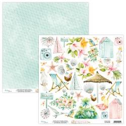Scrapbooking Paper- 12x12 Sheet -PARADISE 09