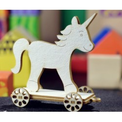 Chipboard - Unicorn on wheels/3D