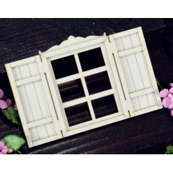 Chipboard - Layered  Windows with shutters