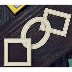 Chipboard - Mini picture frames/ 3pcs