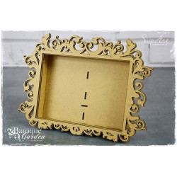 MDF - XL Baroque Rectangle Frame 3D