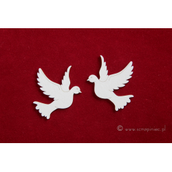 Chipboard - Big pigeons /2pcs