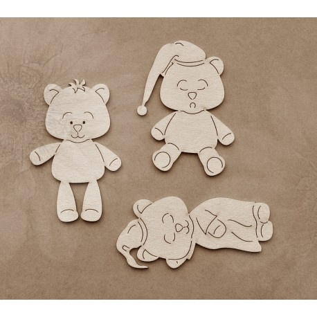 Chipboard - Teddy Bear / Family