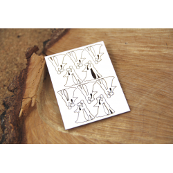 Chipboard - Micro Bridegroom / 10 pcs