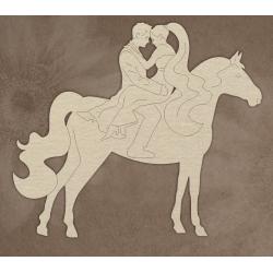 Chipboard -  Bridegroom on horseback