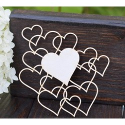 Chipboard - Small hearts background