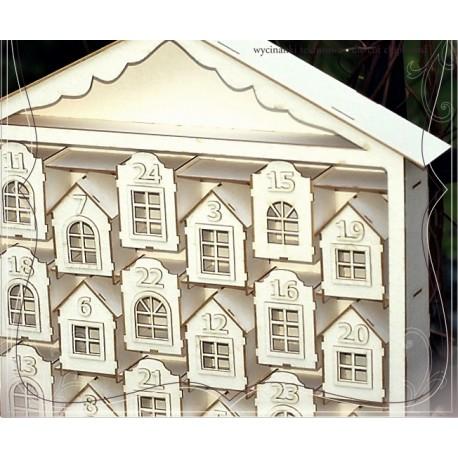 Chipboard 3D - ADVENT CALENDAR / Tenement houses 1