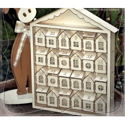 Chipboard 3D - ADVENT CALENDAR / Tenement houses 2