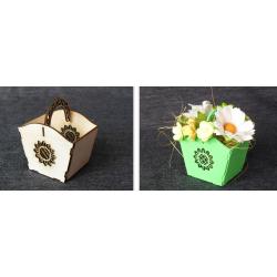 Chipboard - Small Decorative Basket/3D