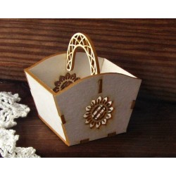 Chipboard - Small Decorative Basket/3D