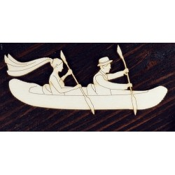 Chipboard -  Young couple in a kayak
