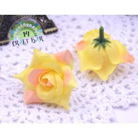 Silk Head Rose 4 cm /10 pcs