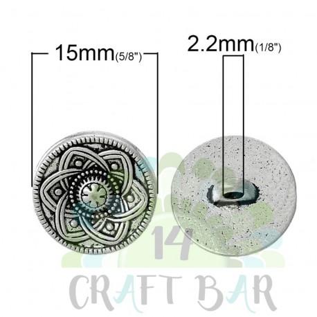 Shank Metal Button - 15mm (83)