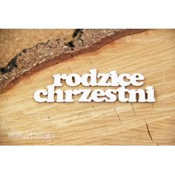 Chipboard - Polish text - Rodzice Chrzestni