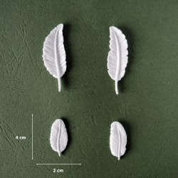 Mold 12 - 4 x Decorative Feathers/Leaves