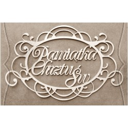 Chipboard - Polish text - Pamiątka Chrztu Św