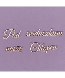 Chipboard - Polish text - Pod serduszkiem nosze chłopca