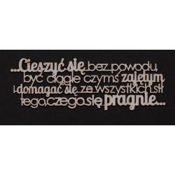 Chipboard - Polish text - Cieszyć się....