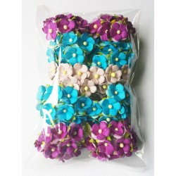 Mini paper flowers/MIX/ 100 pcs