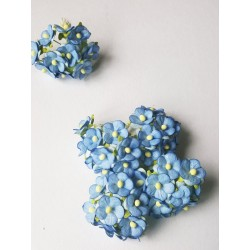 Mini paper flowers/BLUE/ 100 pcs