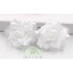 Organza + Silk Head Rose / 2pcs
