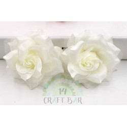 Organza + Silk Head Rose / 2pcs/ IVORY