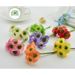 Silk Flowers/Small Anemone/WHITE