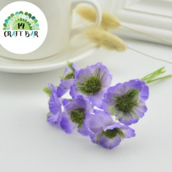 Silk Flowers/Small Anemone/PURPLE