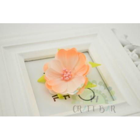 Silk Flower with stamens /ORANGE