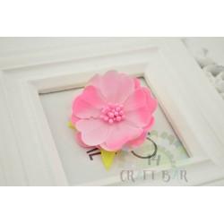 Silk Flower with stamens /BABY PINK
