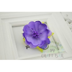 Silk Flower with stamens /PURPLE