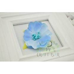 Silk Flower with stamens /BLUE