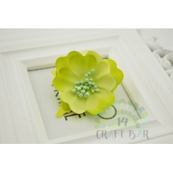 Silk Flower with stamens /LIME