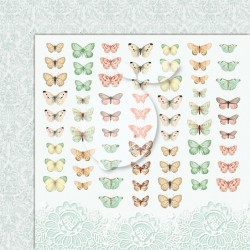 Scrapbooking Paper- 12x12 Sheet - Butterflies 06