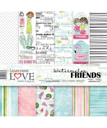 Scrapbooking Papers - watermelon Friends (12x12)