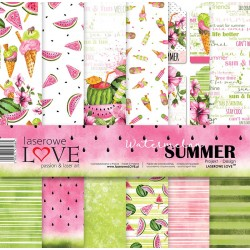 Scrapbooking Papers - Watermelon Summer (12x12)