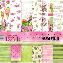 Scrapbooking Papers - Watermelon Summer (12x12)
