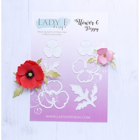 Lady E Design-Flower 06-Poppy