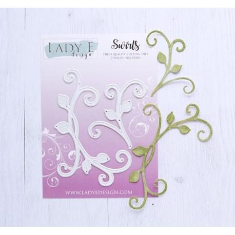 Lady E Design  Leaf 7 - Swirls