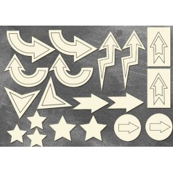 Chipboard -  Set of arrows and vectors