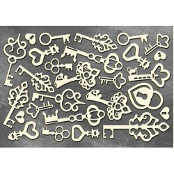 Chipboard - Large set of keys