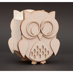 Chipboard - Owl /3D
