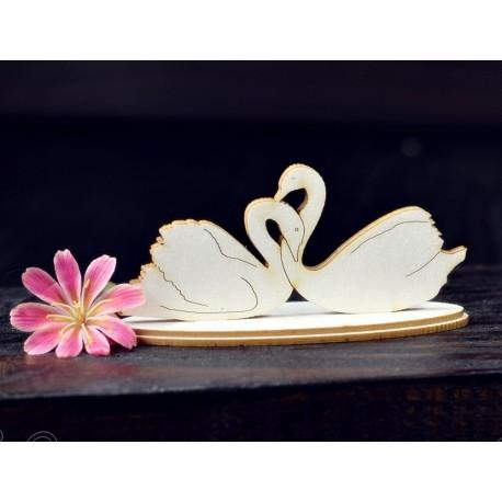 Chipboard - Swans in love/3D